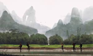 Фото Конг: Остров черепа Солдаты Обезьяны Фан АРТ Кино