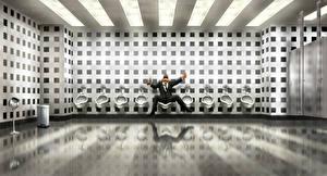 Фотографии Люди в черном 3 Мужчины Fan ART Туалет Фильмы