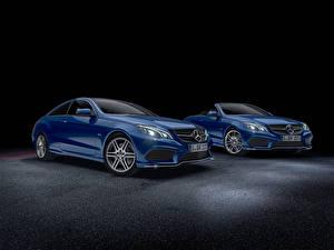 Обои Mercedes-Benz Синий Кабриолет Седан W207 E-Class W212
