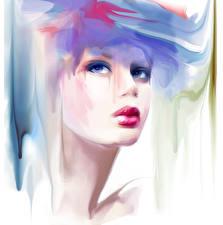 Картинка Рисованные Лицо Девушки