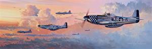 Картинка Самолеты Рисованные Истребители Американские P-51 Mustang