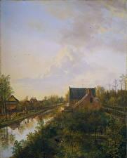 Фотография Картина Водный канал Pieter Gerardus van Os, Near 's-Graveland