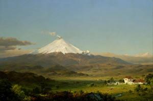 Картинка Картина Вулкан Frederic Edwin Church, Cotopaxi