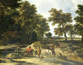 Фотографии Картина Jacob van Ruisdael, The Ford
