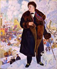 Фотографии Живопись Мужчины Boris Kustodiev, Portrait of Fyodor Chaliapin