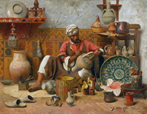 Фотографии Живопись Мужчины Jean Discart, The Pottery Workshop, Tangiers