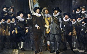 Фото Картина Мужчины Thomas de Keyser, The Company of Captain Allaert Cloeck and Lieutenant Lucas Jacobsz. Rotgans