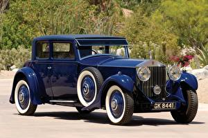 Обои Старинные Rolls-Royce Синий Металлик 1930 Phantom II 2-door Sports Saloon by Mulliner Авто