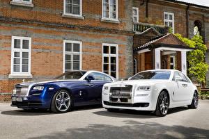 Обои Rolls-Royce Двое Металлик Автомобили картинки