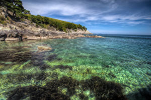 Картинки Россия Берег Море Утес Primorsky Krai