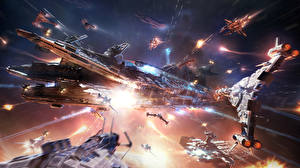 Картинка Star Conflict Битвы Звездолёт Фэнтези