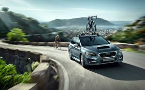 Фотография Subaru Скорость Универсал Велосипеды Levorg машины