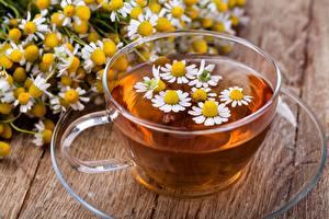 Картинка Чай Ромашки Чашка Пища