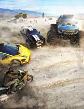 Обои The Crew Мотоциклист Игры Автомобили