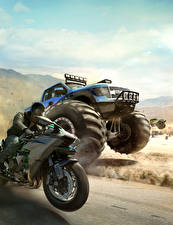 Картинка The Crew Мотоциклист Движение Гонки Игры
