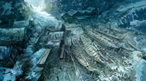 Картинки Ведьмак 3: Дикая Охота Лодки Shipyard