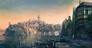 Фотография Ведьмак 3: Дикая Охота Здания Лодки Игры