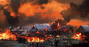 Фотография Ведьмак 3: Дикая Охота Здания Пламя Игры