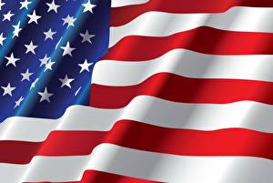 Фотография США Флаг Звездочки Полоски