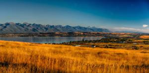Фотографии Штаты Пейзаж Горы Озеро Поля Осень Rocky Point Montana Природа