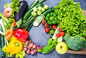 Картинки Овощи Яблоки Перец овощной Огурцы Помидоры Виноград