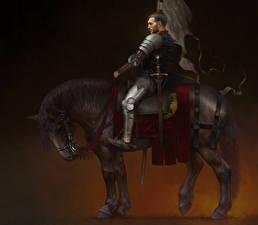 Фотография Воины Лошади Kingdom Come: Deliverance Броня Henry Игры Фэнтези