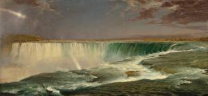 Картинка Водопады Картина Frederic Edwin Church, Niagara Falls