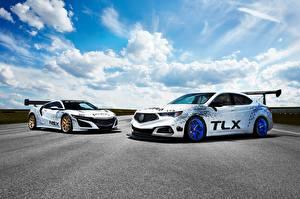 Фотография Акура Стайлинг Белый 2017 TLX A-Spec Race Car Автомобили