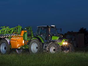 Фотографии Сельскохозяйственная техника Вечер Трактор 2011-13 Deutz-Fahr Agrotron TTV 410