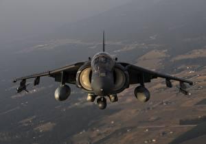 Обои Самолеты Штурмовики Спереди Американские Harrier II AV-8B Авиация