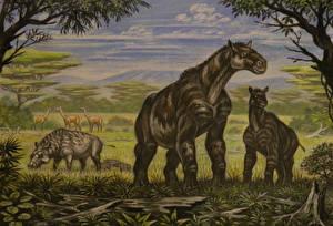 Фото Древние животные Рисованные Maropus