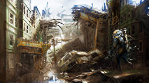 Фотографии Апокалипсис Воины Fallout 4 Игры