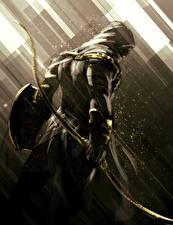 Обои Assassin's Creed Origins Воины Лук оружие Bayek