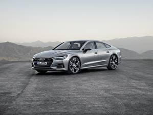 Фотографии Audi Серебряный 2018 Premium A7 Автомобили