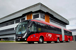 Фотографии Автобус Красный 2012-17 Marcopolo Viale BRT Articulado Mercedes-Benz O 500 MA