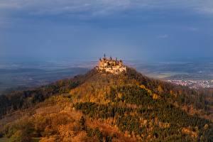 Картинка Замки Германия Горы Hohenzollern Castle Hechingen Природа