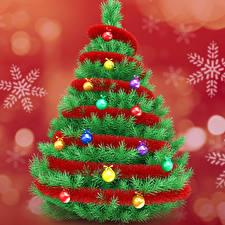 Картинки Новый год Елка Шар Снежинки