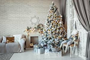 Картинки Новый год Новогодняя ёлка Подарки