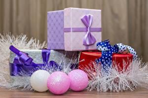 Обои Рождество Подарки Шарики