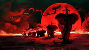 Фотография Слоны Воины Фантастика