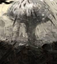 Фотографии Взрывы Солдаты Fan ART The Pacific Кино