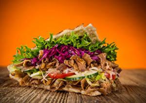 Картинки Быстрое питание Сэндвич Овощи Продукты питания