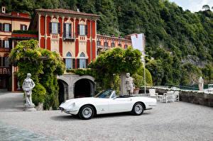 Картинки Феррари Винтаж Pininfarina Белый Кабриолет 1966-67 365 California машины