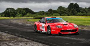 Картинка Ferrari Стайлинг Красных Металлик 2001-03 Prodrive 550 GTO Maranello машины