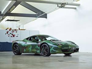 Обои Ferrari Стайлинг Pininfarina 2012 458 Italia Tailor Made Army Pininfarina машины