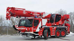 Картинка Пожарный автомобиль Автомобильный кран 2010-11 Liebherr LTM 1050-3.1 FwK Машины