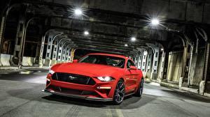 Обои Форд Красный 2018 Mustang GT Level 2 Performance Pack