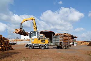 Обои Форвардер Бревно 2015-17 Liebherr LH 35 M Timber Litronic