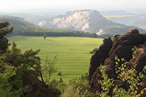 Фотографии Германия Горы Леса Луга Парки Saxon Switzerland National Park