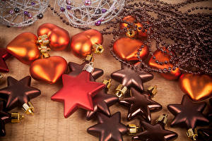 Фотографии Праздники Рождество Звездочки Сердечко